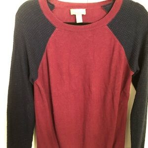Blue and red sweater